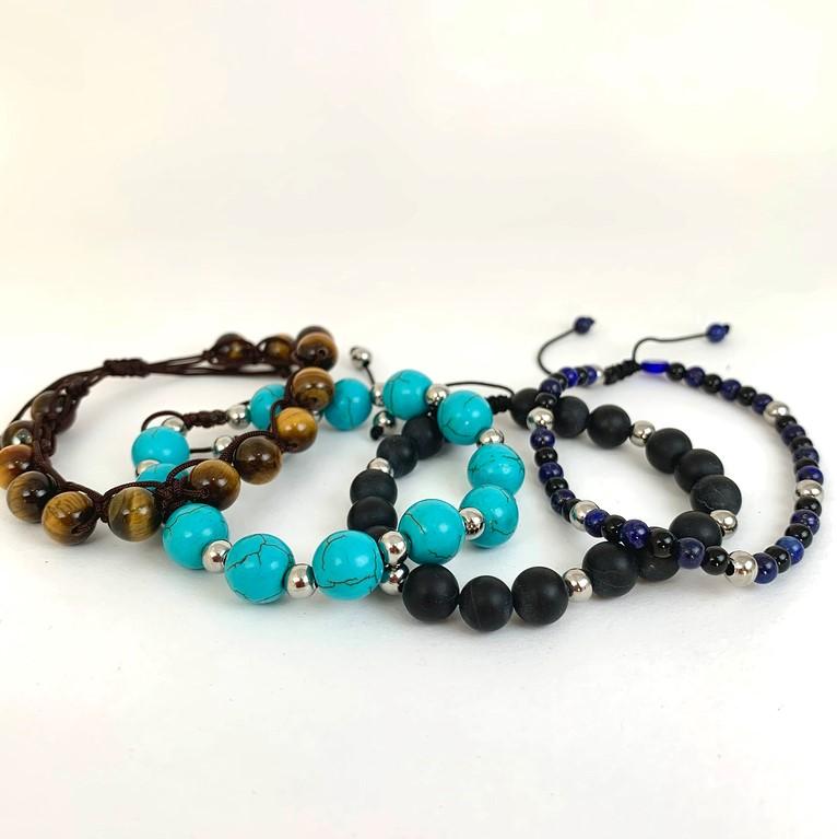 men_stone bracelets