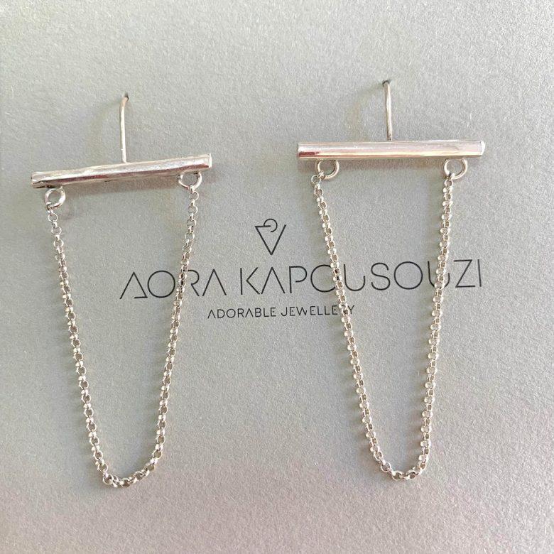 silverchain_earrings